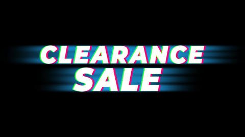 Clearance Sale Text Vintage Glitch Effect Promotion Live Action