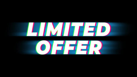Limited Offer Text Vintage Glitch Effect Promotion Live Action