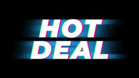 Hot Deal Text Vintage Glitch Effect Promotion Live Action
