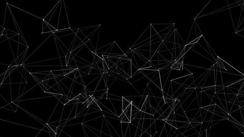 Plexus Abstract internet communication Loop Animation Footage