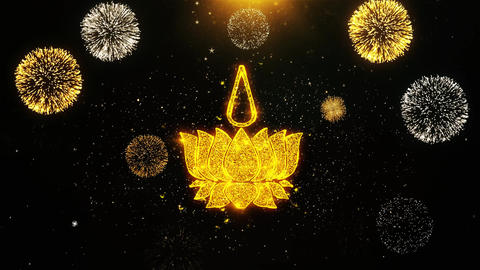 Religious symbol Ayyavazhi symbolism Icon on Firework Display Explosion Live Action