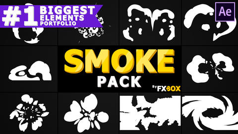 Hand-Drawn Cartoon Smoke After Effects Template