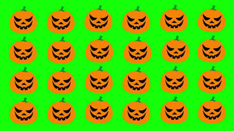 Halloween flat style cartoon pumpkins with black eyes Animation
