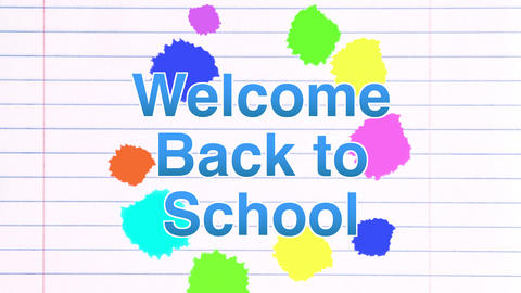 Back to school colourful background animation. Education concept Animation