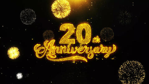 20th Happy Anniversary Wishes Greetings card, Invitation,... Stock Video Footage