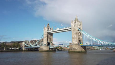 Tower Bridge, Tower of London and The River Thames Live Action
