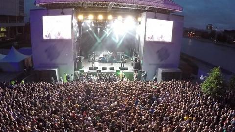 An open air night concert Footage