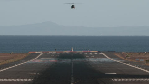 A landing helicopter Footage