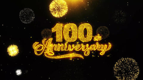 100th Happy Anniversary Wishes Greetings card,… Stock Video Footage