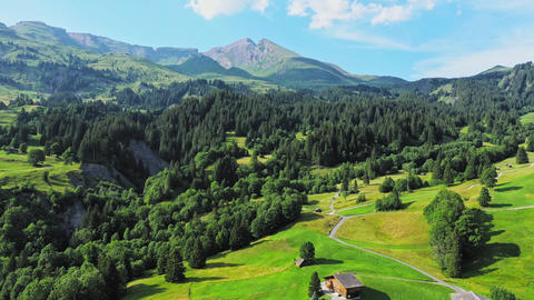 The Swiss alps from above - the beautiful nature of Switzerland Live Action