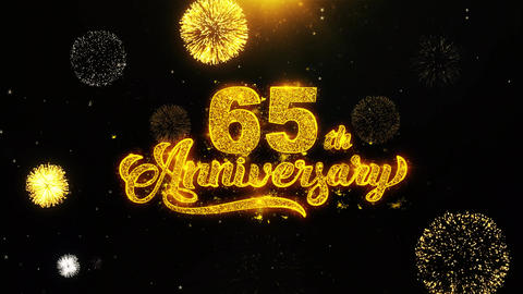 65th Happy Anniversary Wishes Greetings card, Invitation,... Stock Video Footage