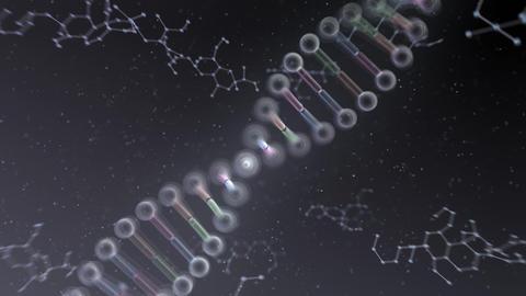 DNA Strand Genome image 6 DoF B2a 4k Animation