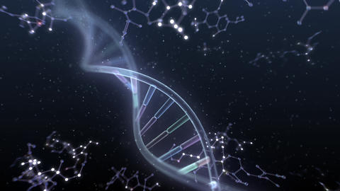 DNA Strand Genome image 6 DoF A4a 4k Animation