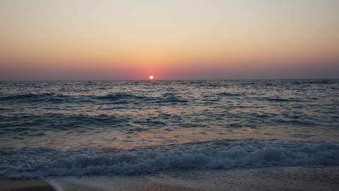 Great view of a sunset over the mediterranean sea in greece Live Action