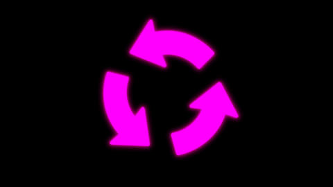 Arrows animation isolated on black background Animation