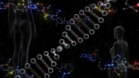 DNA Strand Genome image 6 B2f human 4k Animation