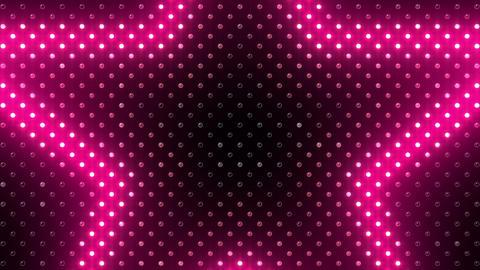 LED Wall 2 Star B Ac HD Stock Video Footage