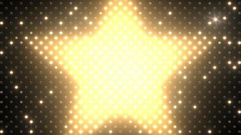 LED Wall 2 Star B Bw HD Stock Video Footage