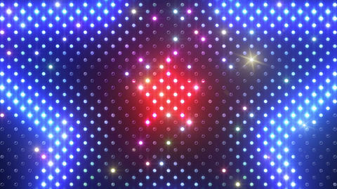 LED Wall 2 Star B Cr HD Stock Video Footage