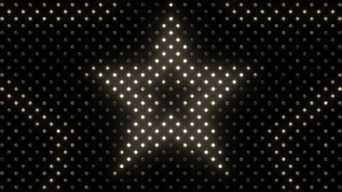 LED Wall 2 Star B Dw HD Stock Video Footage