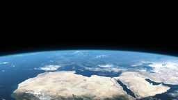 Earth from space Europe africa asia Animation
