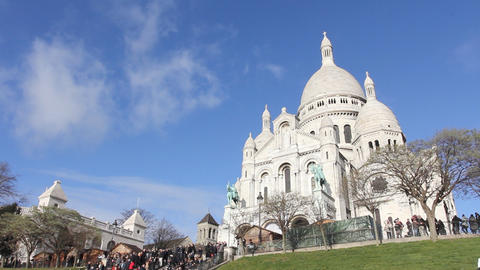 Basilica Sacre-Coeur Paris Footage
