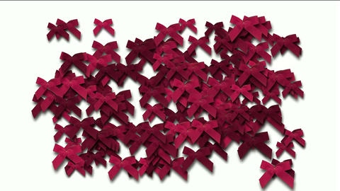 red bow-knot background,chrismas & holiday decoration Animation