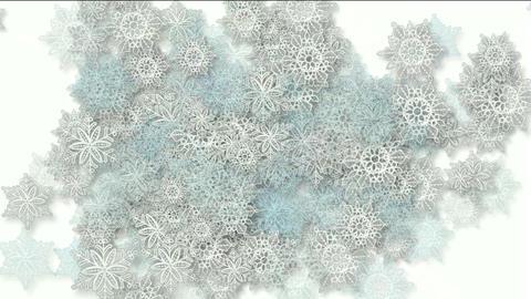 snowflake as chrismas background Animation