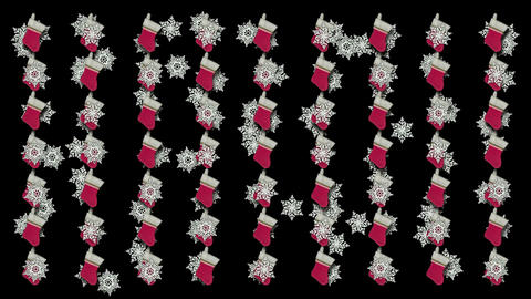 chrismas socks & rotate snowflake background Stock Video Footage