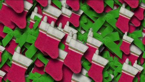 chrismas socks & rotate snowflake background Stock Video Footage