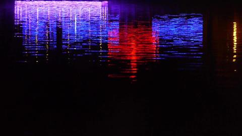 reflection on lake with splendid lighting Stock Video Footage