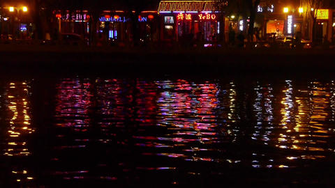 reflection on lake with splendid China ancient... Stock Video Footage