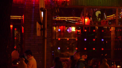 Guitar Folk playing and singing.Bar band... Stock Video Footage