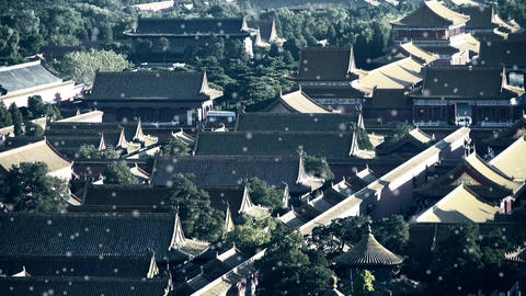 Panoramic of China ancient tower architecture Beijing... Stock Video Footage