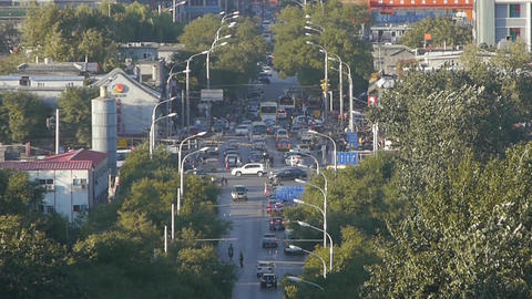 Urban town busy road traffic,Asia China Chinese... Stock Video Footage
