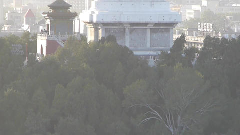 panoramic view of BeiJing BeiHai Park White Tower &... Stock Video Footage