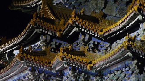 Beijing Forbidden City turret in night.Gorgeous... Stock Video Footage