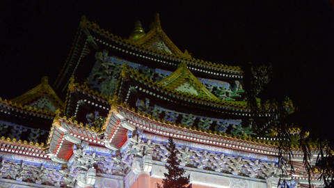 Gorgeous palace.Panoramic of Beijing Forbidden City... Stock Video Footage
