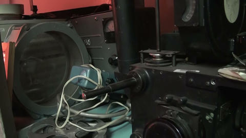 Old movie camera Stock Video Footage