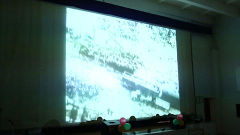 Screens in the audience Stock Video Footage