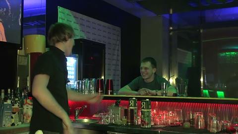 Night club, visitors Stock Video Footage