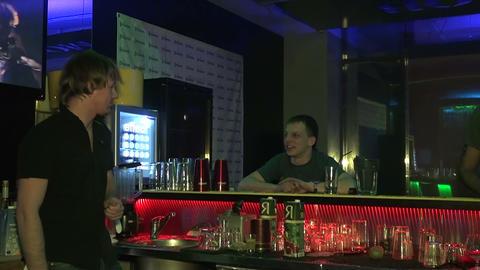 Night club, visitors Footage