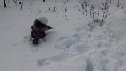 Girl turning the snow Stock Video Footage