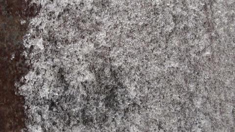Frozen iron door, frost Footage