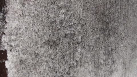 Frozen iron door, frost Stock Video Footage