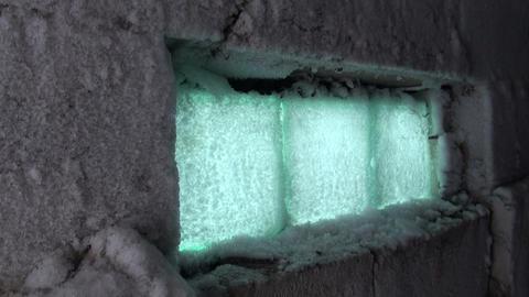 The frozen window Stock Video Footage