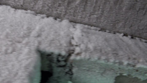 The frost on the wall Stock Video Footage