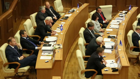 Meeting in the Parliament Stock Video Footage