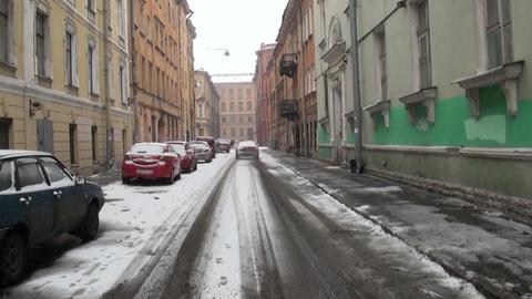 Old street in St. Petersburg Stock Video Footage