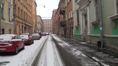 Old street in St. Petersburg Footage